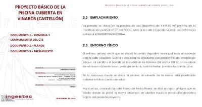 El PP publica los documentos que prueban las mentiras de SOM Vinaròs y PSOE sobre la ubicación de la piscina