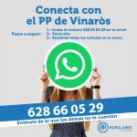 El PP abre un servicio de comunicación con los vinarocenses a través de Whatsapp