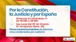 El PP de Vinaròs se suma a la recogida de firmas en contra de los indultos a condenados por sedición