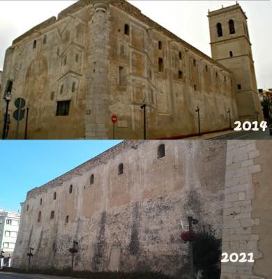 El PP exige una actuación inmediata para salvar las pinturas de arquitecturas fingidas de la iglesia Arciprestal