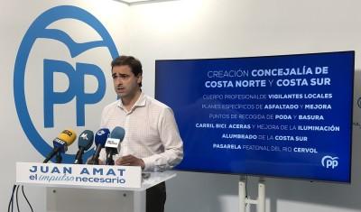 El PP creará la concejalía de costa norte y costa sur para dar soluciones a las problemáticas de esas zonas